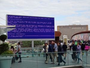 System failure in the wild at Westfield Shopping Centre, acknowledgement to Martin Clinton